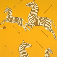 #Scalamandre's amazing #wallpaper - love the #yellow #zebra pattern