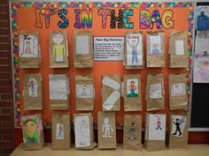 Character book report using lunch bags.