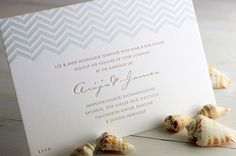 Modern Chevron Wedding Invitations by Meticulous Ink via Oh So Beautiful Paper (5)