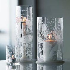 hurricane candle wedding centerpieces