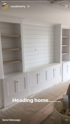 Shiplap bookshelves