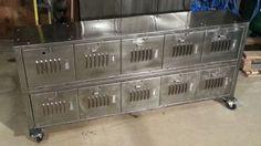 Vintage Repurposed Steel Locker Console Cabinet
