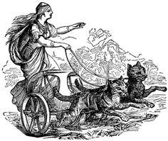 goddess freya, nordic goddess, goddess reign, black cat