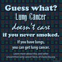 ANYONE CAN GET LUNG CANCER