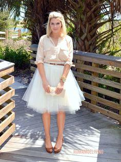 Tulle skirt tutorial for grown ups ; )