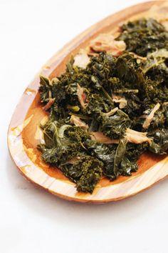 Slow Cooker Kale with Ham Hocks recipe #crockpot