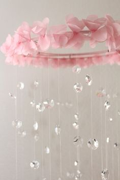 Crystal Baby Mobile Pink Baby Mobile
