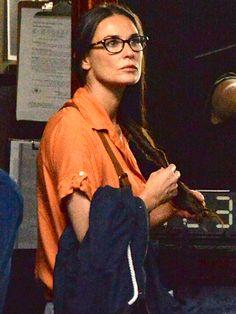 Demi Moore, in fabulous demure cat-eye specs