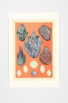 Katie Scott Minerals Art Print #urbanoutfitters