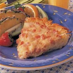 Hash Brown Ham Quiche ~ by Yummly.com