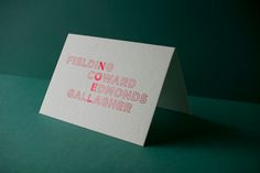 Typographic Christmas Card