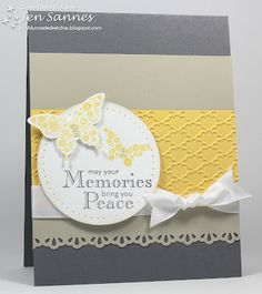 Pretty!! Such nice colors for a sympathy card. sketch, color combo, sympathy cards, butterflies, heaven, 54 butterfli, papillon, memories, butterfli memori