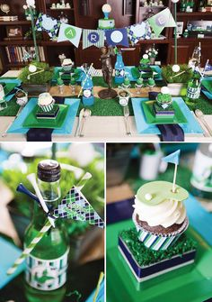 great golf cupcakes and drinks!