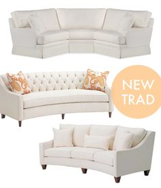 new traditional curved sofas
