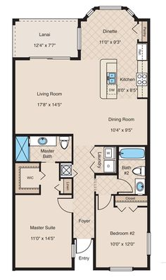 Brookside - Floor Plan