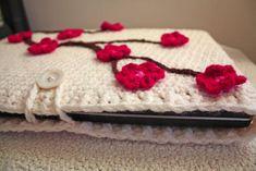 Cherry Blossom Laptop Sleeve - CROCHET