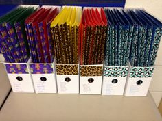 Keep guided reading groups straight by labeling boxes with coordinating duct tape to match students' folders!