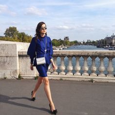@Stylescrapbook at PFW with her Jimmy Choo CANDY Bag