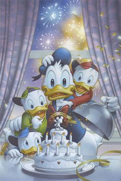 """""""Art of Food and Wine"""" Debut at Epcot International Food & Wine Festival 2014 - """"Donald's Surprise"""" - by Tsuneo Sanda -  195 piece limited edition giclée on canvas – Available at the Event starting Sept. 19th 2014 https://www.facebook.com/events/707381645982858/ - Available online www.acmearchivesdirect.com as of Sept. 22nd 2014"""