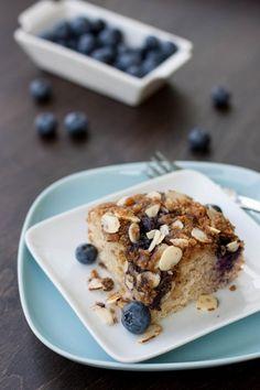 Gluten-Free Blueberry Coffee Cake. #summer #blueberries #gluten_free