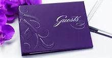 Possibly buying this purple guest book -