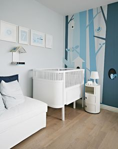 Not the look I will probably go with and yet this is so amazing! Doesn't even look like a nursery- that will be one cool kid!