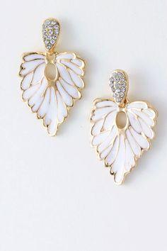 Crystal Folio Earrings on Emma Stine Limited