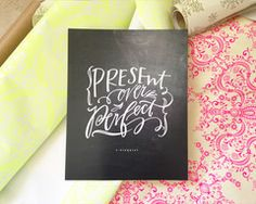 Present Over Perfect Print #lindsaylettersshop