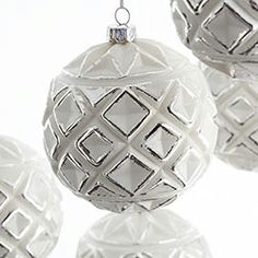 Frosted Ornaments - Globe - Set of 6 - New