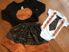 Sibling Set Sibling Thanksgiving Outfits by MyLittleFireflies, $43.00