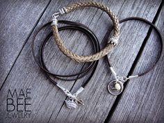 Sterling #Crowns on leather #bracelets from JewelryByMaeBee on #Etsy. www.jewelrybymaebee.etsy.com