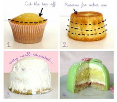 How to make a princess cupcake