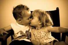 relationship, a kiss, first kiss, baby girls, kids, sweet kisses, boyfriends, marbl, eyes