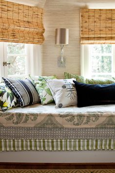 Love these colors together with the roman shades