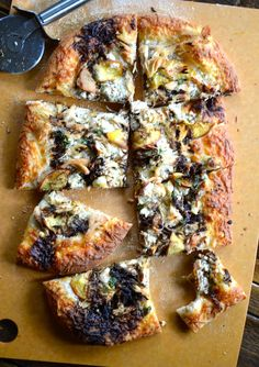 Peach and Balsamic Goat Cheese Pizza