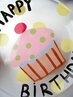 special birthday, happy birthdays, painted plates, plate crafts, special occasions