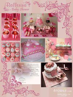 ballerina baby shower theme ~~ so cute!!