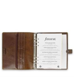 Filofax Malden A5 Leather Organizer Ochre