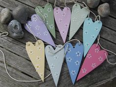 Wooden Heart Bunting