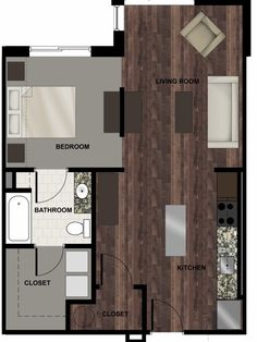Floorplan Rendering 12South Flats