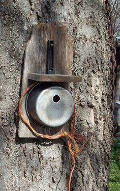 Saucepan birdhouse