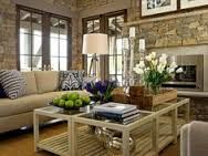 interior, small tables, coffee tables, livingrooms, dreams, dream homes, stone walls, cottage living rooms, live room