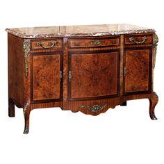 Vintage Louis XVI Marble Top Buffet