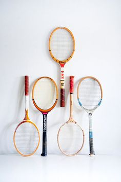 tennis things, tennis vintage, tenni racket, vintag tenni
