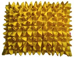 Candy Brights: Yellow Origami Cushion