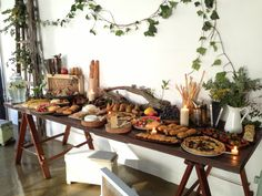 Fabulous buffet styling at the Kinfolk Honey Harvest Workshop - Sydney