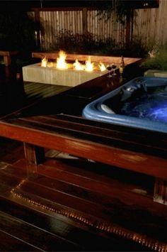 around hot tub