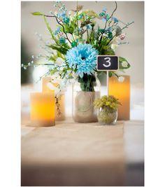 Glitter Mason Jar Wedding Centerpiece | #DIY Wedding Idea from Joann.com | Supplies available at Jo-Ann Fabric and Craft Stores | #craftyeverafter