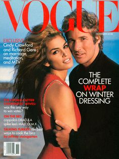 Their marriage didn't last, but this photograph is eternal. Cindy Crawford and Richard Gere for American Vogue, by Herb Ritts. November 1992.