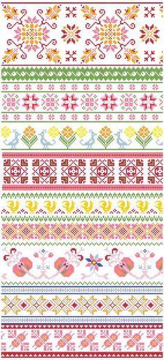 Baltic Folk Borders - Cross Stitch Pattern PDF. $4.00, via Etsy.